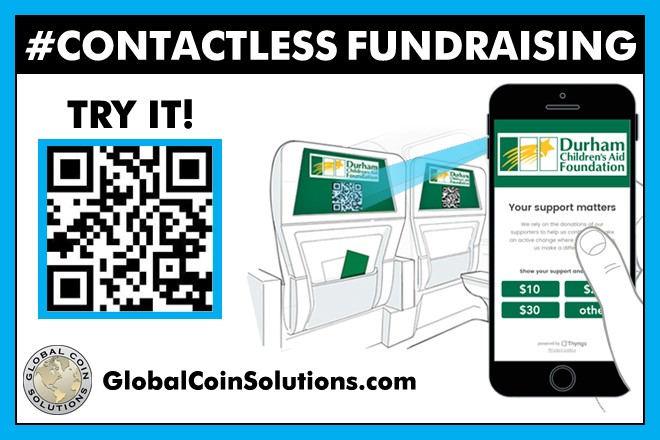 Contactless Fundraising QR code